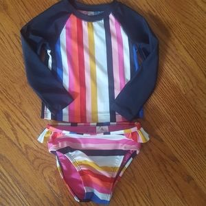Baby Gap Striped Rashguard Swimsuit